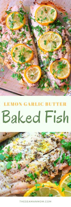 LEMON GARLIC BUTTER BAKED FISH - Quickly pull together a speedy meal, yet fancy enough to serve to company with this delicious recipe for lemon garlic butter baked fish!