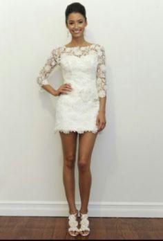 Cute Short Reception Dress