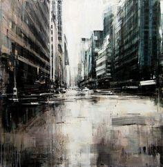 "Valerio D'Ospina, ""Rainy Day in NYC,"" 36x36, 2015"