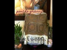 Poncho Tejido en Granny a Crochet - YouTube