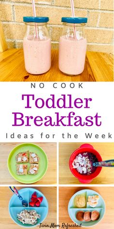 Easy Kid Breakfast Ideas Need breakfast meal ideas for kids or toddlers for the week? Get breakfast food inspiration with these easy toddler food ideas for the week that are healthy and nutritious! Easy no cook kids meals for busy mornings! Kids Cooking Recipes, Cooking With Kids, Baby Food Recipes, Healthy Recipes, Detox Recipes, Food Recipes For Kids, Food For Kids, Toddler Lunches, Healthy Toddler Meals