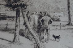 Edgar Chahine Print Titled Au Bois du by McMillanFinePrints