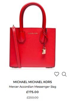 Bag Sale, Luggage Bags, Michael Kors Bag, Top Sales, Messenger Bag, Red, Outfits, Accessories, Style