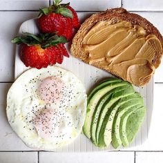 """Food = Fuel  Beautiful breakfast from @barista.fbg following the FBG Meal Plan  #fitbodyguide www.annavictoria.com/guides"""