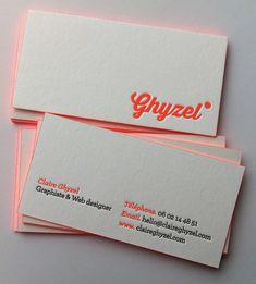 Carte de visite letterpress - Ghyzel