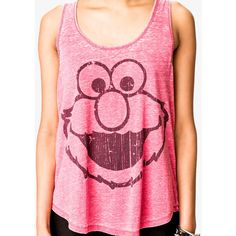 FOREVER 21 Elmo™ Tank ($15) ❤ liked on Polyvore