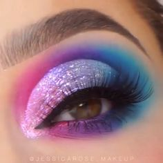 # Make-up # Augenmakeupideas # Make-up-Liebhaber - Makeup Tutorial Over 40 Makeup Eye Looks, Eye Makeup Art, Beautiful Eye Makeup, Crazy Makeup, Eyeshadow Makeup, Aqua Eyeshadow, Crazy Eyeshadow, Galaxy Eyeshadow, Eye Makeup Designs