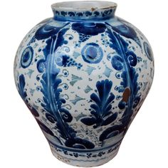 18th Century Mexican Puebla Talavera Jar LArge | From a unique collection of antique and modern vases at http://www.1stdibs.com/furniture/dining-entertaining/vases/