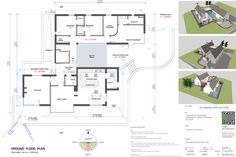 New homes and house extension projects by Edge Architecture - CORK ARCHITECTS including work for Carbery, OPW, Coilte Bungalow House Design, Bungalow Homes, Cottage Design, Modern House Design, House Plans Uk, House Floor Plans, Courtyard Design, Courtyard House, Cottage Extension