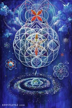 Creation of a Galaxy. Sacred Geometry