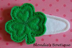 St. Patrick's Day - make into shamrock pins instead.
