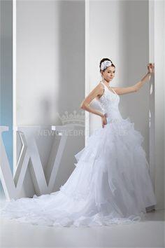 White Sleeveless Satin Zipper-back Wedding Dress 003  sunsdress.com #sunsdress newcelebritydress.com #newcelebritydresses