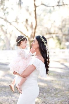 Mother daughter photo props flower crowns set of 2 Ivory Babys Breath silk floral Halo baby headband Bridal hair wreath wedding accessories Mother Daughter Maternity, Mother Daughter Photos, Mother Daughters, Flower Girl Halo, White Flower Crown, Wedding Pics, Wedding Day, Wedding Dresses, Wedding Shoot