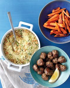 The flavors of Morocco are captured in this simple, spicy dish. To make the meatballs, use the reserved spice mix from our Spicy Potatoes and Peas with Chicken.