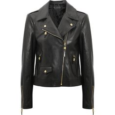 Versace Leather biker jacket found on Polyvore