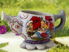 Alice in Wonderland flower planter