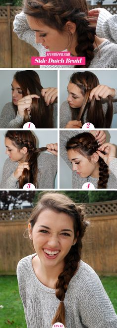 Put a fresh twist on a basic French braid with this cool reverse style.
