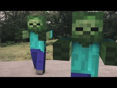 Minecraft: Zombie Attack This guy has some very cool real life meets video game videos