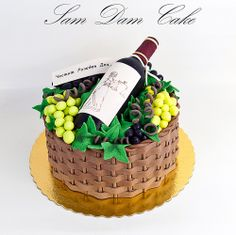 Fancy Cakes, Cute Cakes, Pretty Cakes, Alcohol Cake, Realistic Cakes, Bottle Cake, Adult Birthday Cakes, Specialty Cakes, Novelty Cakes
