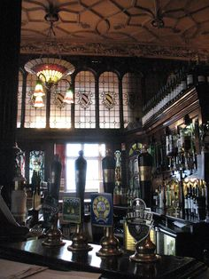 Inside the Philharmonic Pub. Liverpool, England