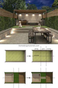 Some of the main principles involved in garden design are; Small Courtyard Gardens, Small Courtyards, Contemporary Garden Design, Garden Deco, Backyard, Patio, Garden Inspiration, Garden Furniture, Architecture Design
