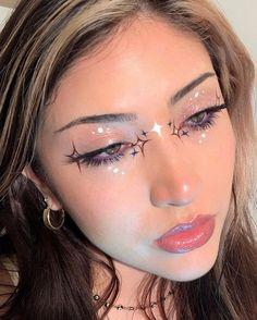 Edgy Makeup, Makeup Eye Looks, Eye Makeup Art, Kiss Makeup, Cute Makeup, Pretty Makeup, Makeup Inspo, Makeup Inspiration, Makeup Lipstick