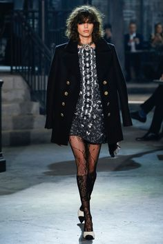Lace tights from Chanel.
