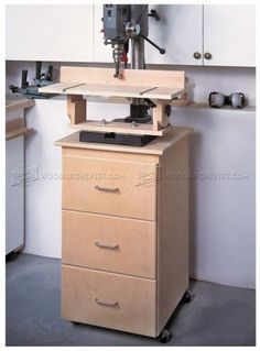 #1355 Drill Press Center Plans - Drill Press Tips, Jigs and Fixtures