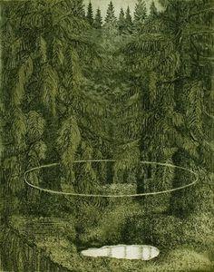 Largo. Leena Talvitie, 2006. Printmaking, etching, aquatint.