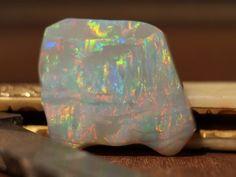 Dark Crystal Opal 52ct Carved by Daniel Mekis at www.opaljewerly.net