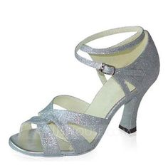 Dance Shoes - $50.99 - Women's Sparkling Glitter Heels Sandals Latin With Ankle Strap Dance Shoes (053022064) http://jjshouse.com/Women-S-Sparkling-Glitter-Heels-Sandals-Latin-With-Ankle-Strap-Dance-Shoes-053022064-g22064