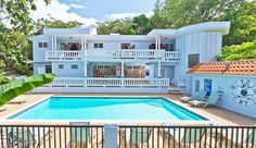 Rincon Vacation Rental - VRBO 110537 - 6 BR Puerto Rico House, Casa Bomberos Guesthouse - Pool, Tikibar, Ac, Wifi - 6BR, 4 BR or 2 BR-another large house close by, not ocean front