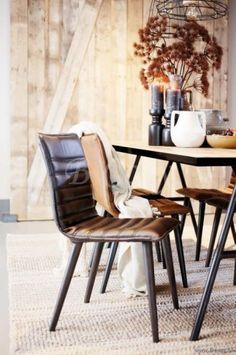 "Braxton-Lifestyle Jenso-Dining Chair Gun Metal 126155 <span style=""font-size: 6pt;""> Leren-lederen-stoel-Eetkamerstoel-Eethoekstoel-Eettafelstoel-Eetstoel-in-leder-in-leer-chaise-chaises-en-cuir-Leather-chair-stuhl-aus-leder </span>"