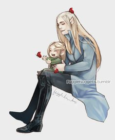 Cute little Legolas and Thranduil