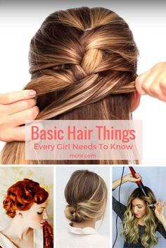 These are the hair how-to basics you need to master before tackling more complicated hair tutorials.