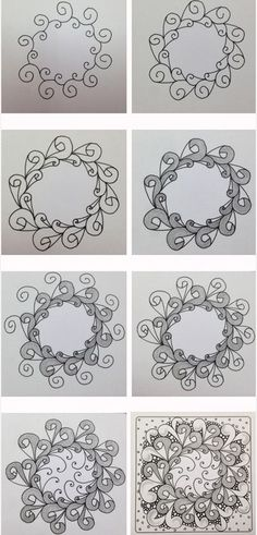Eddyper. Tangle Pattern Variation tangled in the round, by Damy, CZT.
