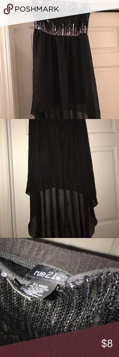 tube top dress Tube top dress, worn once, high low dress, sheer/mesh in the high low part of dress, *pet free/smoke free home*, FINAL PRICE Rue21 Dresses High Low
