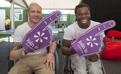 Thanks to Iwan Thomas and Ade Adepitan for showing their support at the volunteering event Go Local July 19th. To see more visit www.joininuk.org Sports Stars, Join, Thankful, Celebrities, Celebs, Celebrity, Famous People
