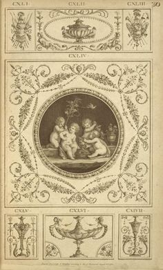 Central design of four cherubs with basket of fruit and leaves, small bird overhead. Central design of four cherubs with basket of fruit and leaves, small bird overhead. Arabesque, Little Bird Helicopter, Sparrow Art, Crochet Bird Patterns, Best Bird Feeders, Decoupage Vintage, Bird Pictures, Small Birds, Bird Art