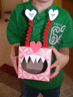 Love Monster Mailbox!!! Make with tissue box, pipe cleaners, and paper. #CUTE