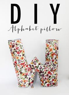 DIY Alphabet Pillow - Denim on the other side. Great way to personalize an accent pillow. Full Tutorial.
