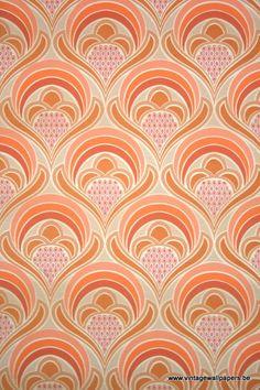 Original retro wallpaper & vinyl wallcovering from the sixties & seventies