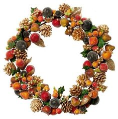 Beaded Fruit Wall Wreath - Orange - Salzburg Creations Inc. Fall Wreaths, Christmas Wreaths, Christmas Decorations, Holiday Decor, Bead Weaving, Green Colors, Happy Holidays, Farmhouse Decor, Floral Wreath