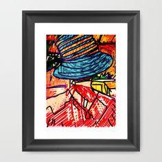 """Color Burst"" Digital Art Print Woman Hat Lines Illustration Expressive"