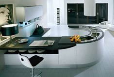 If I went with a modern/contemporary kitchen design, this concept hits the nail on the head.