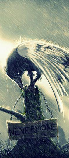 """""""NEVERMORE"""" Fanar de  El cuervo de Edgar Allan Poe"""