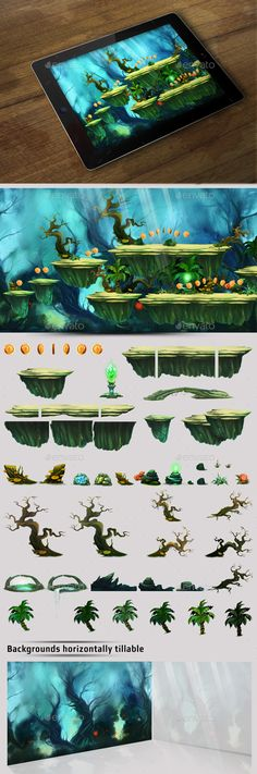 2D  Platform Game — Photoshop PSD #iphone5 #title • Available here → https://graphicriver.net/item/2d-platform-game-/16227506?ref=pxcr