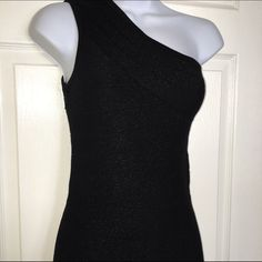 Sexy one shoulder dress Gently used black dress with shimmer detail - Tags are removed - I believe this is a size small / mini Dresses Mini