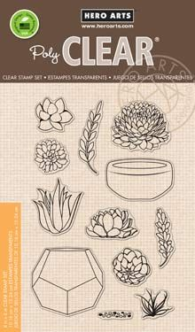 Hero Arts Clear Stamps STAMP YOUR OWN SUCCULENTS CL839
