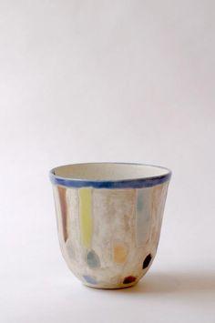 Tea Cup, glazed clay.  Asano Satoshi.   3 1/4″ x 2 3/4″.